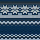 Seamless knitted pattern. Wool Sweater Design Royalty Free Stock Photo