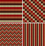 Seamless knitted patterns Royalty Free Stock Photo