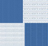 Seamless knitted patterns and ornaments royalty free illustration