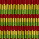 Seamless knitted reggae pattern Stock Photos
