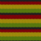Seamless knitted reggae pattern Royalty Free Stock Photo