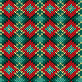 Seamless knitted rhombus color pattern Stock Photography