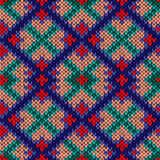 Seamless knitted rhombus colorful pattern Stock Photo