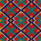 Seamless knitted rhombus multicolor pattern Royalty Free Stock Photos