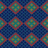 Seamless knitted rhombus pattern Stock Images