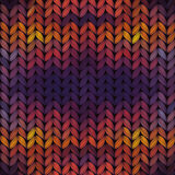 Seamless knitted sunset pattern Royalty Free Stock Photo