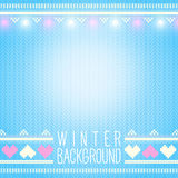 Seamless knitted winter background with holiday elements. Can be Royalty Free Stock Image