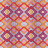 Seamless knitted zigzag pattern Stock Photography