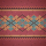 Seamless knitting background pattern Stock Photography