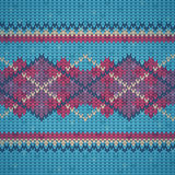 Seamless knitting background pattern Royalty Free Stock Images