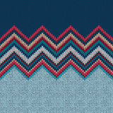 Seamless knitting Christmas pattern with wave ornament Stock Images