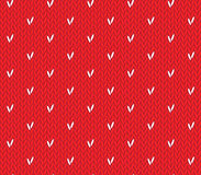 Seamless knitting pattern with hearts. Saint Valentine's Day seamless knitting pattern with hearts Royalty Free Stock Image