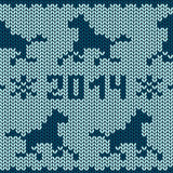 Seamless knitting pattern with horses Royalty Free Stock Images