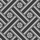 Seamless knitting pattern. Seamless jacquard knitting pattern. Knitwear texture. Vector Illustration Royalty Free Stock Photo