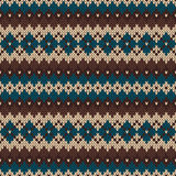 Seamless knitting pattern in traditional nordic Fair Isle style Stock Photos