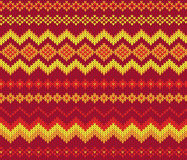 Seamless knitting pattern Stock Images