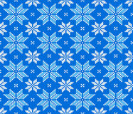 Seamless knitting pattern Royalty Free Stock Image