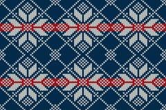 Seamless Knitting Pattern. Winter Holiday Sweater Design Royalty Free Stock Photos