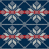 Seamless Knitting Pattern. Winter Holiday Sweater Design Royalty Free Stock Photo