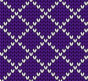 Seamless knitting vector pattern stock photography