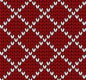 Seamless knitting vector pattern Stock Photo