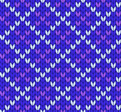 Seamless knitting vector pattern Royalty Free Stock Photography