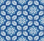 Seamless knitting winter pattern royalty free stock image