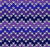Seamless knitting zigzak pattern Royalty Free Stock Photography