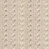 Seamless Knitwear Fabric Texture. Seamless Beige Knitwear Fabric Texture with Pigtails. Repeating Machine Knitting Texture of Sweater. Beige Knitted Background royalty free stock photos