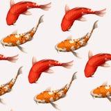 Seamless koi carps Royalty Free Stock Images