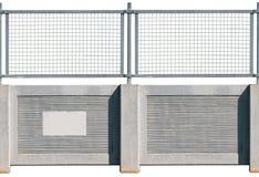 seamless konkret staket Royaltyfri Bild