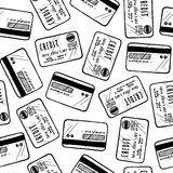 Seamless kreditkortbakgrund vektor illustrationer