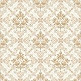 Seamless kunglig guld- wallpaper Royaltyfria Foton