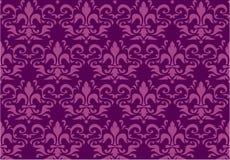 Seamless kunglig liljawallpaper Royaltyfria Foton