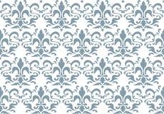 Seamless kunglig liljawallpaper Royaltyfri Bild