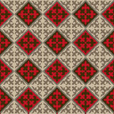 Seamless Kyrgyz national ornament pattern Stock Image