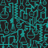 Seamless  lab patttern stroke. Seamless  lab pattern in two colors Stock Photo