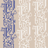 Seamless  lab patttern stroke. Seamless  lab pattern in two colors Stock Photos