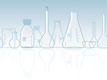 Seamless laboratory chemical banner Stock Photography