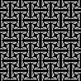 Seamless labyrinthine pattern. Royalty Free Stock Photo