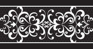 Seamless lace. Stripe on black background Royalty Free Stock Photos