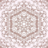 Seamless lace background. Hexagonal seamless ornament dark line on a light background Royalty Free Stock Photography