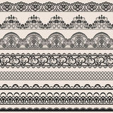 Seamless lace border Stock Photo