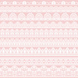Seamless lace border Stock Photos