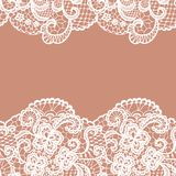 Seamless lace border. Invitation card. Royalty Free Stock Photo
