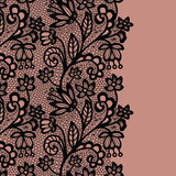 Seamless lace border. Invitation card. Stock Images