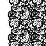 Seamless lace border. Invitation card. Stock Image