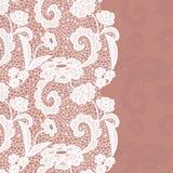 Seamless lace border. Invitation card. Stock Photo