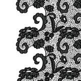 Seamless lace border. Invitation card. Stock Photos