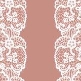 Seamless lace border. Invitation card. Royalty Free Stock Photography